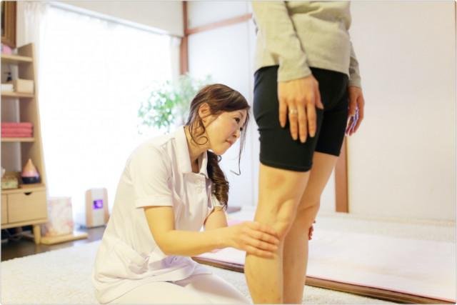 ⑥施術後、脚の状態を確認・ご説明